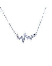 Srebrny naszyjnik puls i serce - pr. 925