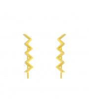 Złote kolczyki nausznice zygzak - pr. - 585