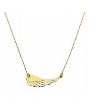 Złoty łańcuszek z motywem skrzydła anioła - pr. 585