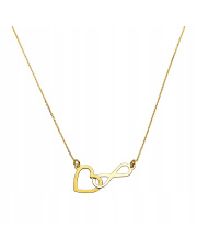 Złoty łańcuszek serce i nieskończoność pr.585
