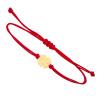 Złota bransoletka na sznurku z koniczynką - pr. 585