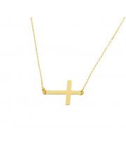 Złoty naszyjnik celebrytka z krzyżykiem - pr. 585