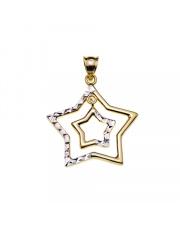 Zawieszka złota gwiazdka w gwiazdce pr 585