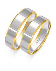 Złote obrączki ślubne, soczewka - pr. 585