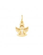 Zawieszka złota aniołek z krzyżykiem pr 585