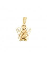 Zawieszka złota ażurowy aniołek pr.585