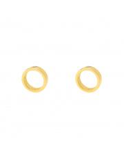 Złote kolczyki sztyfty okrąg - pr.585