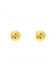 Złote kolczyki sztyfty kulki diamentowane - pr.585