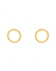 Złote kolczyki sztyfty puste kółko - pr.585