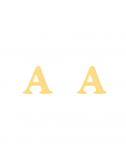Złote kolczyki sztyfty literka A - pr.585