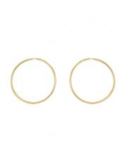Złote kolczyki koła 3,5 cm - pr. 585