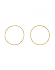 Złote kolczyki koła 6,5 cm - pr. 585