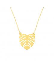 Złoty łańcuszek - celebrytka liść monstera - pr. 585