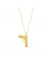 Złoty łańcuszek-celebrytka z pistoletem - pr. 585