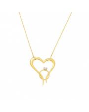 Złota celebrytka serce z pierścionkiem - pr. 585