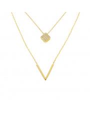 Złota celebrytka z podwójnym łańcuszkiem - pr. 585