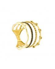 Złoty pierścionek - poczwórna obrączka- pr.585