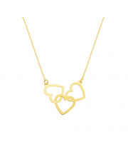 Złota celebrytka 3 serca - pr. 333