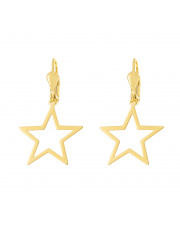 Złote kolczyki z wiszącą gwiazdką pr. 585
