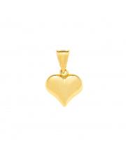 Złota zawieszka diametnowane serce pr. 585