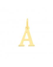 Złota zawieszka literka