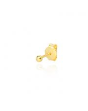 Złoty kolczyk kulka- pr. - 585