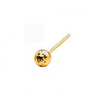 Złoty kolczyk kulka diamentowana - pr.333