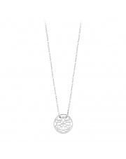 Celebrytka srebrna naszyjnik z ażurem - pr. 925
