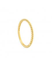 Złoty pierścionek - obrączka z kuleczkami - pr.585