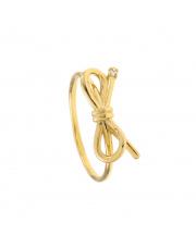 Złoty pierścionek z kokardką- pr.585