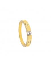 Złoty pierścionek z cyrkonią- pr.585