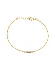 Złota bransoletka z kolorowymi kulkami - pr.585