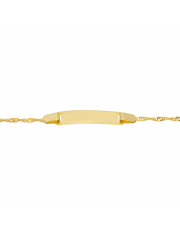 Złota bransoletka z blaszką pod grawer - pr. 333