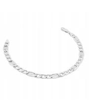 Srebrna bransoleta długość 18 cm - splot cartier - pr.925