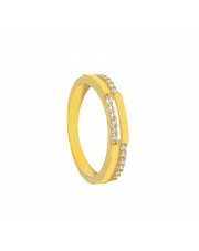 Złoty pierścionek z cyrkoniami - pr.333