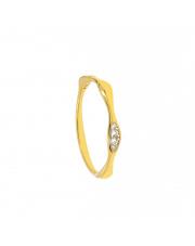 Złoty pierścionek zygzak z cyrkoniami - pr.333