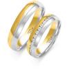 Złote obrączki ślubne z cyrkoniami - pr.585