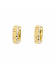 Złote kolczyki diamentowane z białym złotem  - pr.333