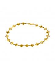 Złota bransoletka z brylantami 0,12ct - pr.585