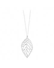 Srebrny naszyjnik z liściem - pr. 925