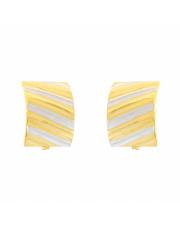 Złote kolczyki diamentowane z białym złotem pr. 585