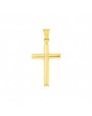 Złota zawieszka Krzyżyk katolicki złoty pr. 585