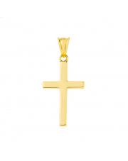 Złota zawieszka krzyżyk katolicki  pr. 585