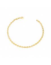 Złota bransoletka ogniwa fasolki 18,5 cm - pr. 585