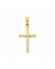 Złota zawieszka Krzyżyk pr. 585
