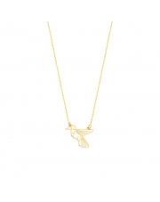 Złoty łańcuszek celebrytka koliberek - pr. 333