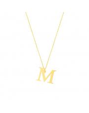 Złoty łańcuszek celebrytka literka M - pr. 333