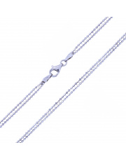 Podwójny srebrny naszyjnik - KULECZKI 40 cm - pr. 925