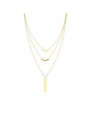 Złota celebrytka z potrójnym łańcuszkiem - pr. 585