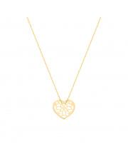 Łańcuszek złoty celebrytka z ażurowe serce pr.585